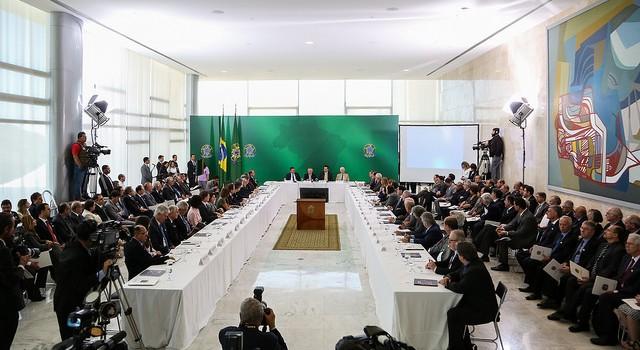 A reunião do Conselho Nacional de Ciência e Tecnologia foi realizada nessa quarta-feira, 1º de agosto, no Palácio do Planalto, em Brasília. (Foto: Marcos Corrêa/PR)
